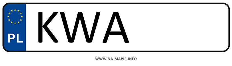 Rejestracja KWA, miasto Wadowice