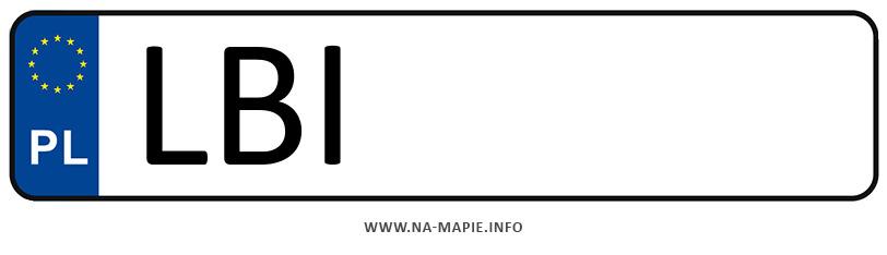 Rejestracja LBI, miasto Biała Podlaska powiat