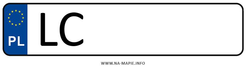 Rejestracja LC, miasto Chełm