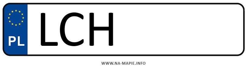Rejestracja LCH, miasto Chełm powiat