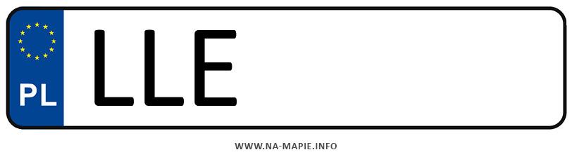 Rejestracja LLE, miasto Łęczna