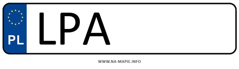 Rejestracja LPA, miasto Parczew