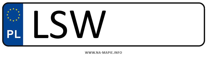 Rejestracja LSW, miasto Świdnik