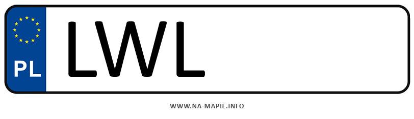 Rejestracja LWL, miasto Włodawa
