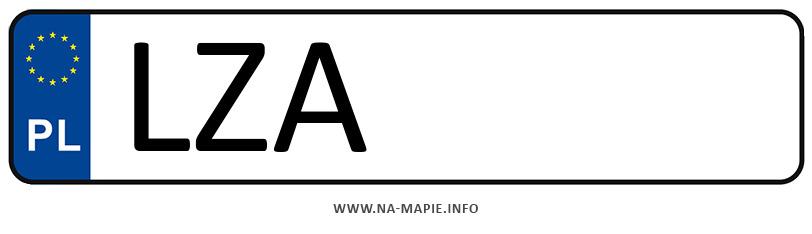 Rejestracja LZA, miasto Zamość powiat