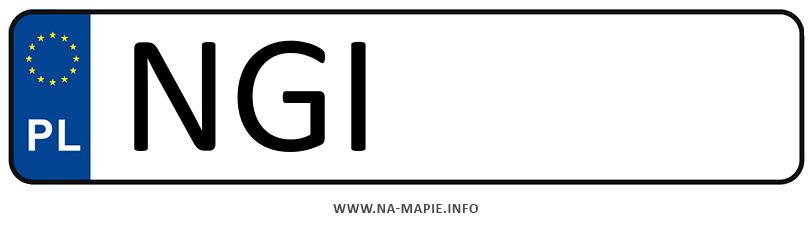 Rejestracja NGI, miasto Giżycko