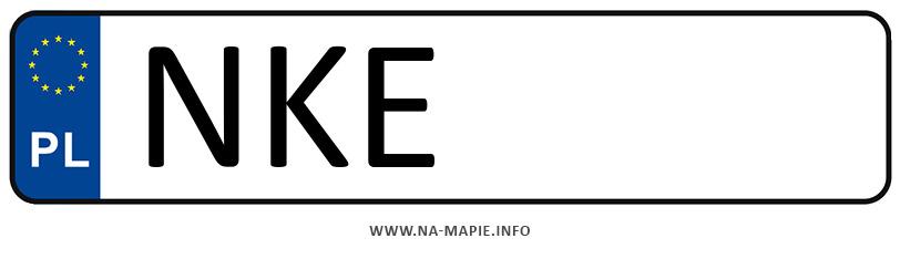 Rejestracja NKE, miasto Kętrzyn