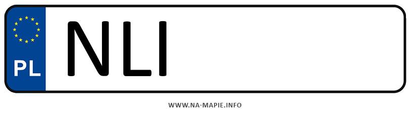 Rejestracja NLI, miasto Lidzbark Warmiński