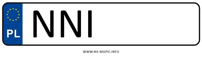 Rejestracja NNI, miasto Nidzica