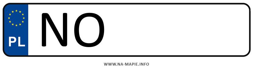 Rejestracja NO, miasto Olsztyn