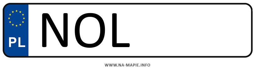 Rejestracja NOL, miasto Olsztyn powiat