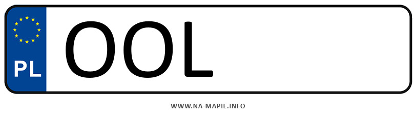 Rejestracja OOL, miasto Olesno