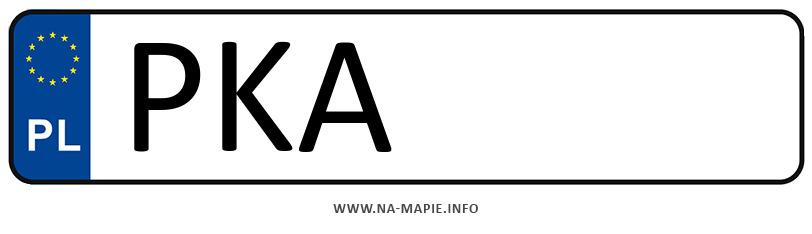 Rejestracja PKA, miasto Kalisz powiat