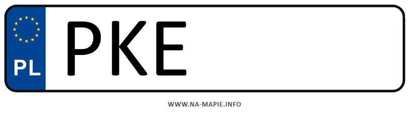 Rejestracja PKE, miasto Kępno