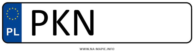 Rejestracja PKN, miasto Konin powiat