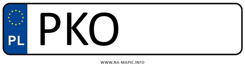 Rejestracja PKO, miasto Konin