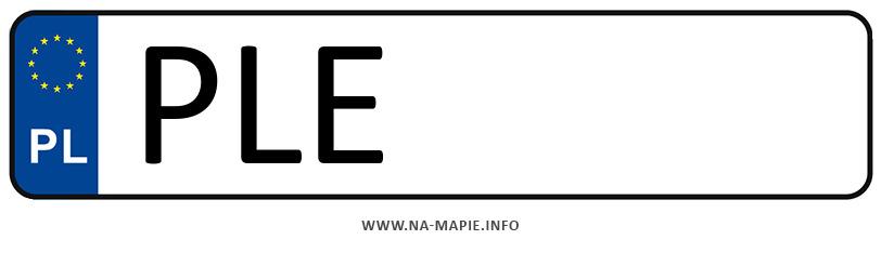 Rejestracja PLE, miasto Leszno powiat
