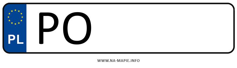 Rejestracja PO, miasto Poznań