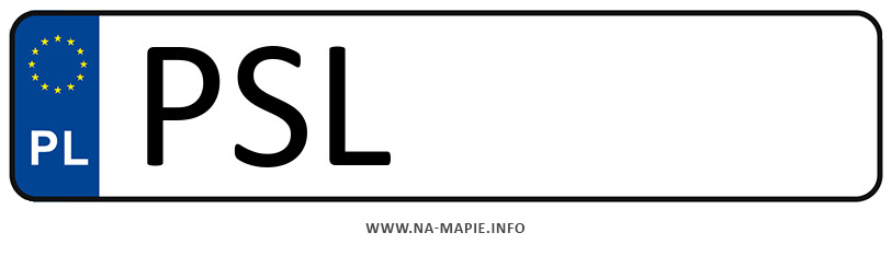 Rejestracja PSL, miasto Słupca
