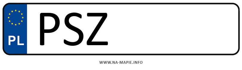 Rejestracja PSZ, miasto Szamotuły