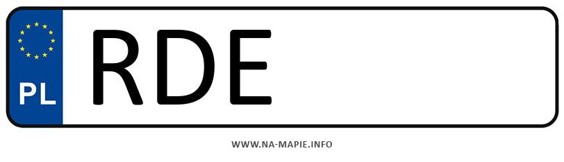 Rejestracja RDE, miasto Dębica