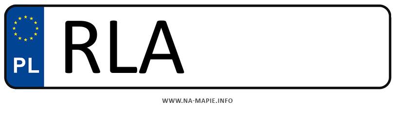 Rejestracja RLA, miasto Łańcut