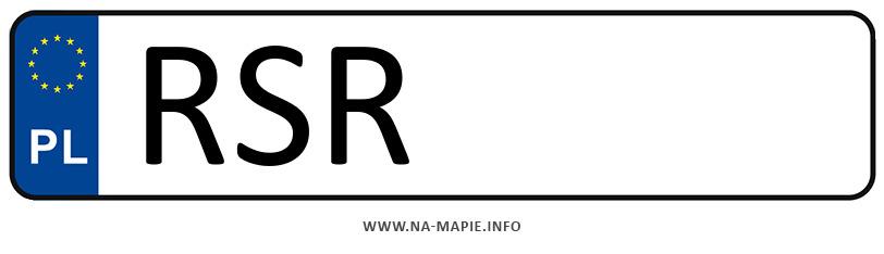 Rejestracja RSR, miasto Strzyżów
