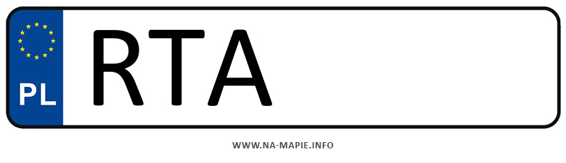 Rejestracja RTA, miasto Tarnobrzeg powiat