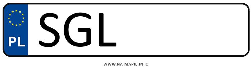 Rejestracja SGL, miasto Gliwice powiat