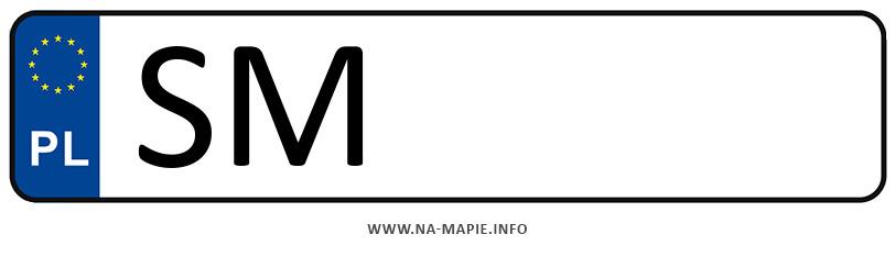 Rejestracja SM, miasto Mysłowice