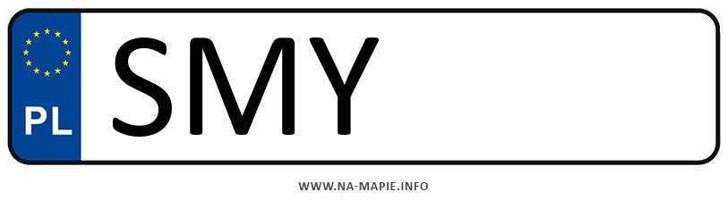 Rejestracja SMY, miasto Myszków