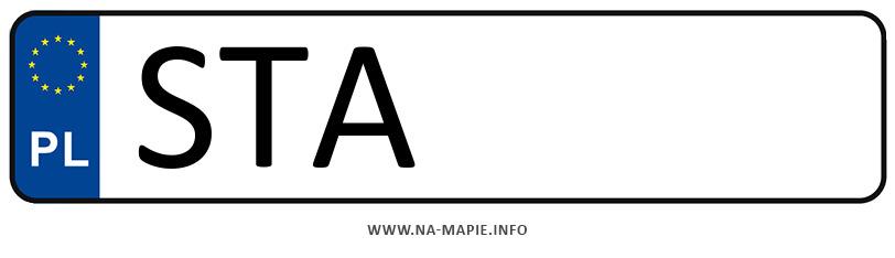 Rejestracja STA, miasto Tarnowskie Góry