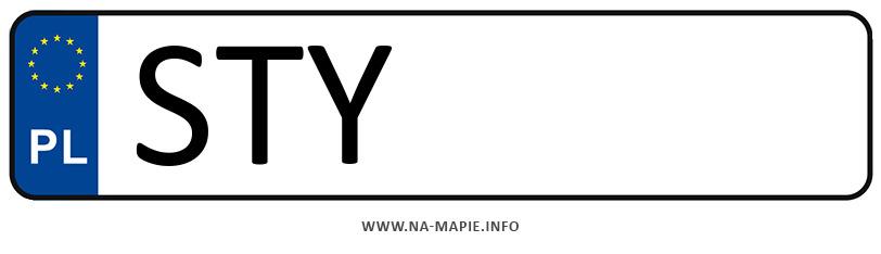 Rejestracja STY, miasto Tychy powiat