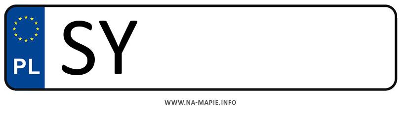 Rejestracja SY, miasto Bytom