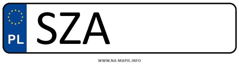 Rejestracja SZA, miasto Zawiercie