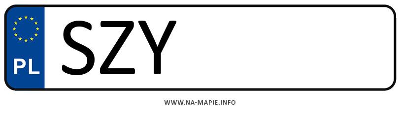 Rejestracja SZY, miasto Żywiec
