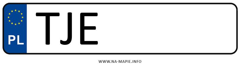 Rejestracja TJE, miasto Jędrzejów