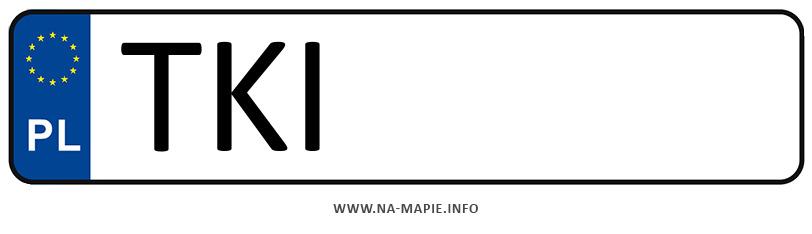 Rejestracja TKI, miasto Kielce powiat