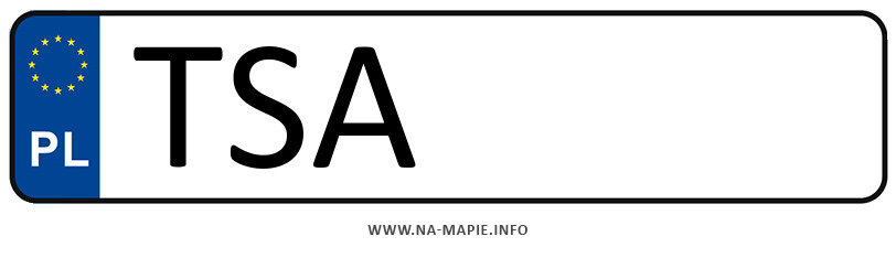Rejestracja TSA, miasto Sandomierz