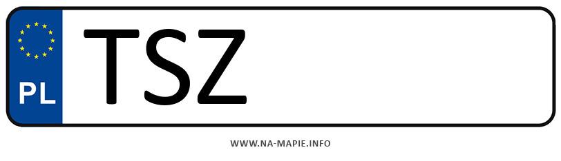 Rejestracja TSZ, miasto Staszów