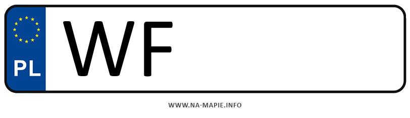 Rejestracja WF, miasto Warszawa-Praga Południe