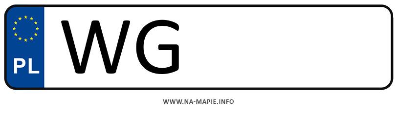 Rejestracja WG, miasto Garwolin