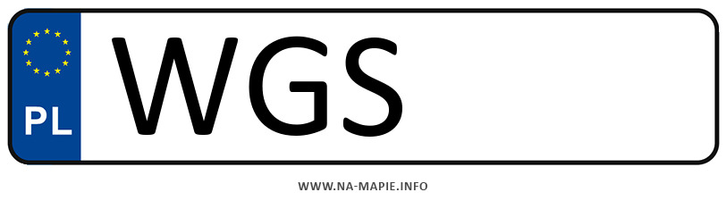 Rejestracja WGS, miasto Gostynin