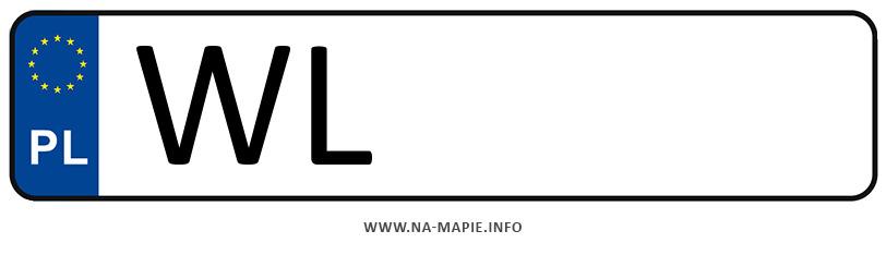 Rejestracja WL, miasto Legionowo