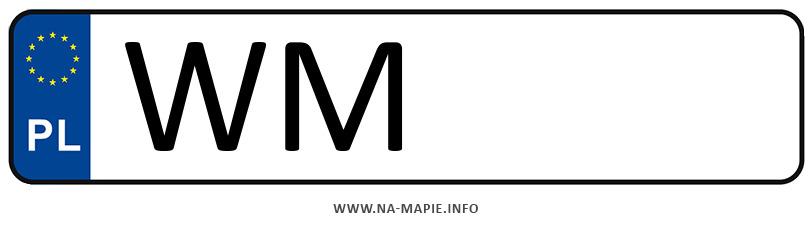 Rejestracja WM, miasto Mińsk Mazowiecki