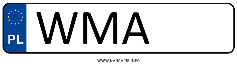 Rejestracja WMA, miasto Maków Mazowiecki