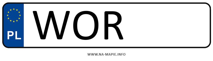 Rejestracja WOR, miasto Ostrów Mazowiecka