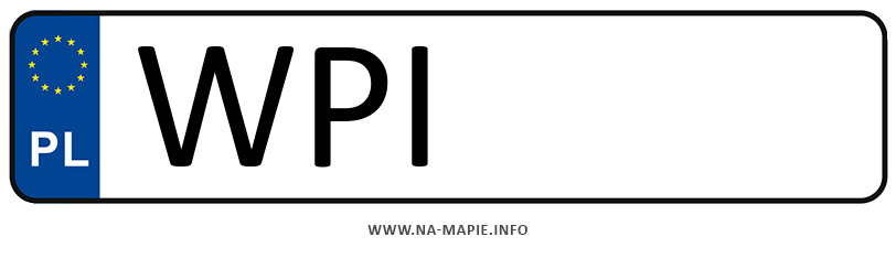 Rejestracja WPI, miasto Piaseczno