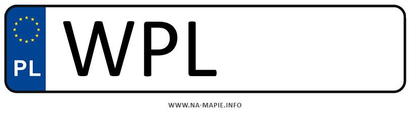 Rejestracja WPL, miasto Płock powiat