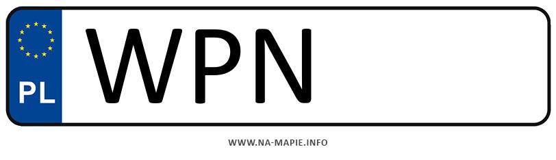 Rejestracja WPN, miasto Płońsk
